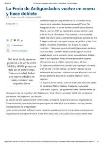 La Feria de Antigüedades vuelve en enero y hace doblete - Diario de Burgos